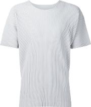 Pleated T Shirt Men Polyester 2