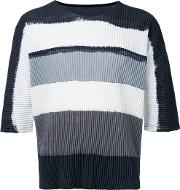 Pleated T Shirt Unisex Polyester 3