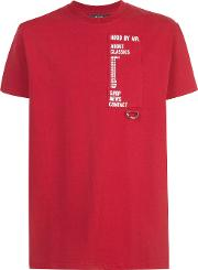 Loose Fit T Shirt Men Cotton L, Red