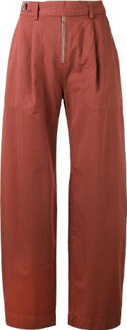 Master Trousers Women Cotton 34, Red