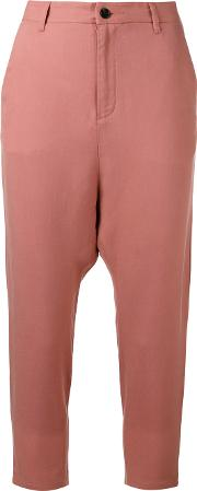 Was Trousers Women Linenflaxramielyocell 34, Red