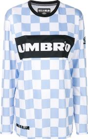 House Of Holland Checkerboard Umbro Top Women Polyester L, Blue