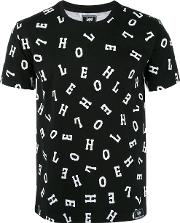 Letter Print T Shirt Men Cotton Xl, Black
