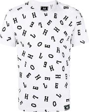 Letter Print T Shirt Men Cotton Xl, White