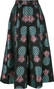 Pineapple Culottes Women Cottonpolyester 8, Black