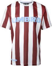 Umbro Jersey Striped T Shirt Unisex Polyester L, Red