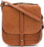 Humanoid Flap Shoulder Bag Women Leather One Size, Brown