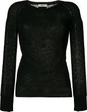 Humanoid Round Neck Top Women Cottonwool M, Black