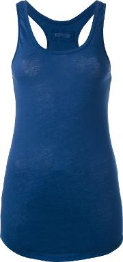 Raceback Tank Top Women Cotton Xs, Women's, Blue
