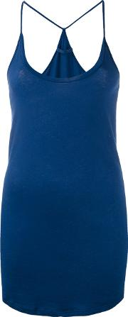 Racerback Tank Top Women Organic Cotton M, Blue