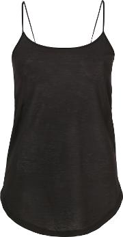 Tied Strappy Top Women Cotton M, Black