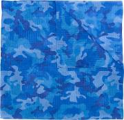 Camouflage Print Scarf Men Modalcotton One Size, Blue