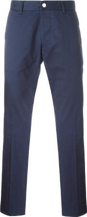 Chino Trousers Men Cottonspandexelastane 36, Blue