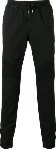 Gathered Ankle Trousers Men Cottonspandexelastane 36, Black