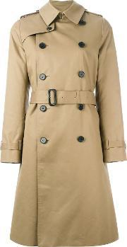 Belted Trench Coat Women Cottonnylonpolyesterwool 3
