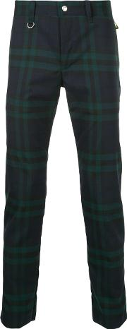 Checkered Zip Back Skinny Trousers