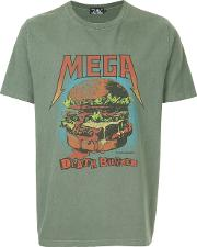 Mega Death Burger Print T Shirt