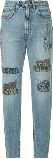 Tattoo Graphic Print Jeans