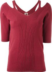I'm Isola Marras Cut Out Detail Knitted Blouse Women Polyesterviscose L, Red