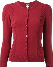 I'm Isola Marras Ribbed Detail Buttoned Cardigan Women Viscosepolyester M, Red