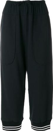 I'm Isola Marras Slouched Cropped Trousers Women Cottonspandexelastaneacetateviscose 44, Black