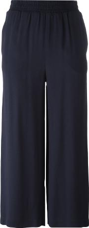 I'm Isola Marras Straight Cropped Trousers Women Acetateviscose 44, Blue