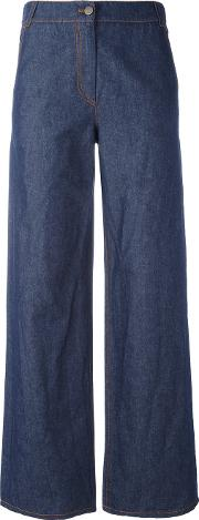 I'm Isola Marras Wide Leg Jeans Women Cottonlinenflax 42, Blue