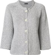 Ribbed Buttoned Cardigan