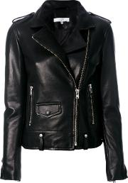 Iro Biker Jacket Women Lamb Skinacetate 34, Black
