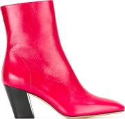 Rosaria Ankle Boots Women Leather 37, Red