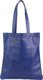 Classic Shopping Tote Women Calf Leather One Size, Blue