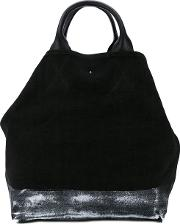 Double Straps Large Tote Women Linenflax One Size, Black