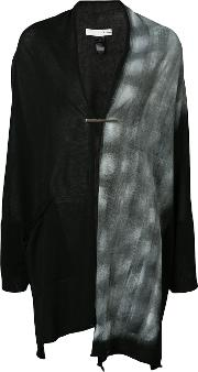 Hand Painted Wrap Cardigan Women Cotton Ml, Black