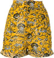 Amity Printed Shorts Women Cotton 42, Yelloworange