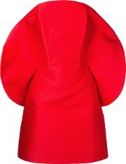 Isabel Sanchis Curved Neckline Cocktail Dress Women Polyesterviscose 38, Red