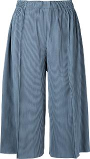 A Poc Pleats 3 Cropped Wide Pants Women Polyester One Size, Grey