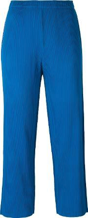 Cropped Pants Women Polyester One Size, Women's, Blue