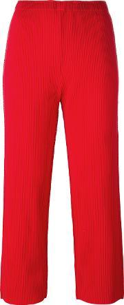 Cropped Pants Women Polyester One Size, Women's, Red