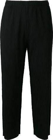 Cropped Trousers Women Polyester One Size