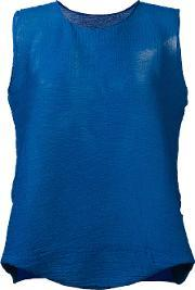 Flared Blouse Women Polyester One Size, Women's, Blue