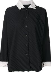 Pleated Buttoned Up Blouse