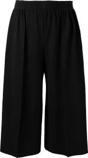 Ribbed Culottes Women Polyester One Size