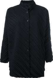 Ribbed Knitted Coat Women Polyester One Size, Women's, Black