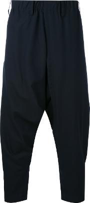 Drop Crotch Trousers Men Woolnyloncupro 1, Blue