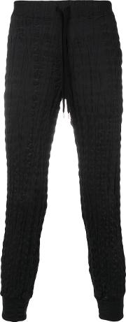 Issey Miyake Pleated Track Pants Men Polyester 1, Black