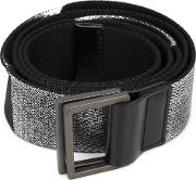 Origami Buckle Belt Women Polyester One Size, Black