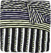 Striped Scarf Women Polyester One Size
