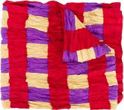 Checked Crinkle Effect Scarf