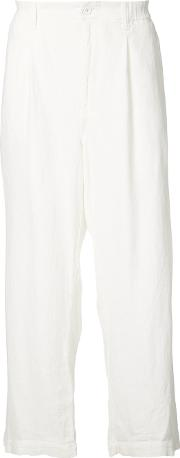 Wide Leg Trousers Men Cottonlinenflaxmodal 3, White