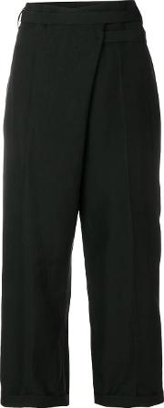 Wrap Cropped Trousers